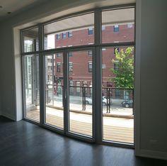 Sliding doors in The Residence on W Webster Ave,Chicago