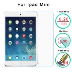 For iPad mini 1st Tempered Glass Screen Protector Cover Film Guard Ultra Thin Transparent Clear Brand New Protection