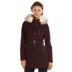 Apt. 9® Belted Wool-Blend Peacoat - Women's
