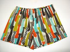 Mens Boxer Shorts.  Colorful and Stylish.  All by SewnWithPassion