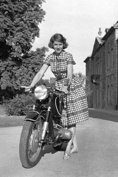 Anke-Eve Goldmann with her BMW R75/5. She taught German at a USAF dependents' school in Germany.