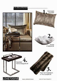 In stijl van Eric Kuster. Glanzende materialen en natuurlijke tinten. Praktisch, maar toch stijlvol. Shop de producten via love-togive.blogspot.nl