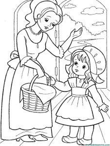 little red riding hood, karkulka Farm Animal Coloring Pages, Coloring Sheets For Kids, Pattern Coloring Pages, Bible Coloring Pages, Cute Coloring Pages, Adult Coloring, Coloring Books, Human Drawing, Baby Drawing