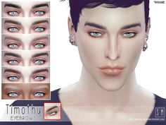 Timothy Male Brows by Screaming Mustard at TSR via Sims 4 Updates