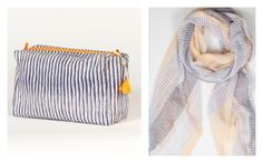Gorgeous handmade travel bags + scarves by Hallie Gray. Affordable too.