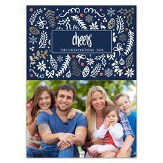 Gilded Garden Holiday Photo Cards