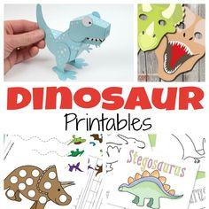 Free Dinosaur #Printables @ItsyBitsyFun // Imprimibles de dinosaurios gratis
