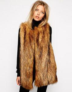 #DIYInspiration ASOS Vintage Longline Faux Fur Gilet