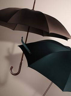 Men's umbrellas in seasonal shades - new from Burberry for Autumn/Winter 2014
