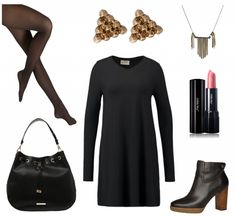 #Herbstoutfit BLACK LOVE ♥ #outfit #Damenoutfit #outfitdestages #dresslove