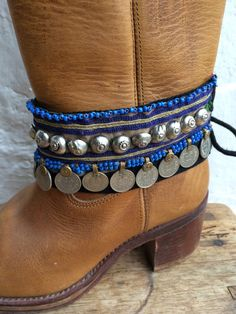 Bohemian boot belts from Ibiza by AUROBELLE on Etsy