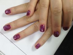 Marbled pink shellac