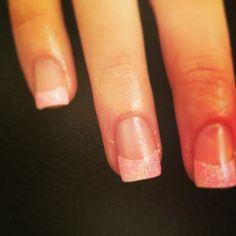 Roze glittertip