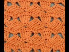 Crochet : Punto Fantasia Cruzado - YouTube