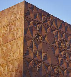 Concrete facade. B&M Architects Ltd, Kruunuvuorenrannan koonta-asema, Helsinki.