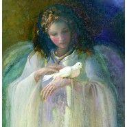 Portrait of Angel w/Dove
