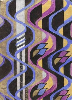 Blue, Black, Purple and White Furniture Fabric, Charles Rennie Mackintosh (1868–1928)