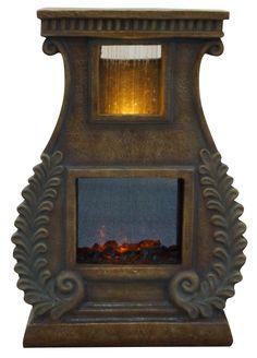 Alpine Fiberglass Sculptural Fire Fountain & Reviews | Wayfair