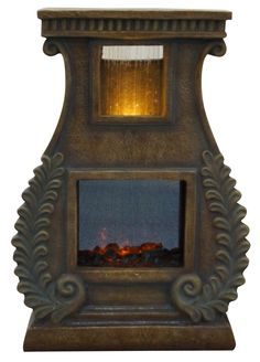 Alpine Fiberglass Sculptural Fire Fountain & Reviews | Wayfair