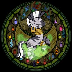 Stained Glass: Zecora by Akili-Amethyst on deviantART