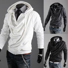 Pile collar design fashion trendsetter jacket coat Korean Mens Hooded Sweater supreme sweatshirts coat for men jacket overcoat-in Vests & Waistcoats from Apparel & Accessories on Aliexpress.com