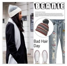 """Bad Hair Day: Beanies"" by shambala-379 ❤ liked on Polyvore featuring Converse, Dorothy Perkins and beanies"