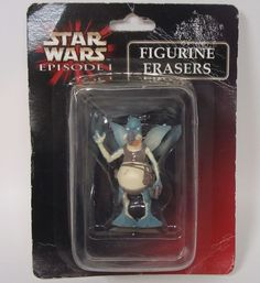 Star Wars Episode I Watto Figurine Eraser Packaging Shows Wear #Unbranded