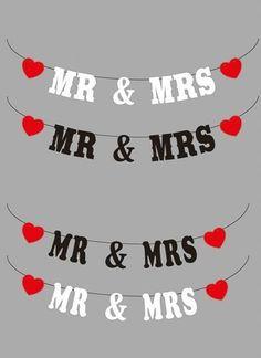 Mr & Mrs Wedding Bunting - Wedding Photo Prop - Decoration - 4 styles