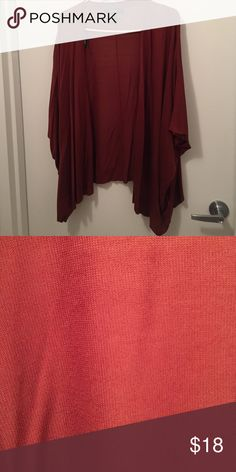 Orange brown forever 21 cardigan Deep orange brown loose sweater from forever 21- make an offer! Forever 21 Sweaters Cardigans