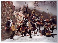 Storming of the breach by Prussian troops during the Battle of Leuthen, 1757