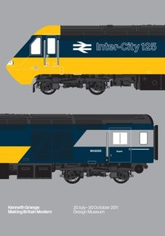 Design Museum Shop: View All Products > Artwork + Posters > Intercity 125 Print Train Template, National Rail, 3d Printer Designs, Railway Museum, Railway Posters, Train Pictures, British Rail, Museum Shop, Design Research