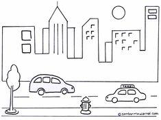 Gambar Mewarnai Suasana Perkotaan