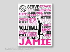 This art print or canvas would look great in any volleyball players room. Great end of season or volleyball coach gift.