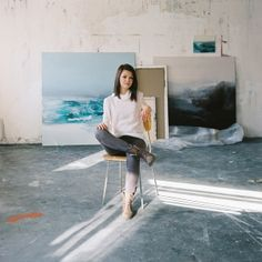 Artist portrait. Photography Katarina K Photography Art direction Paulina Vinter Paintings & Author: Soňa Patúcová Clothes: me&m High Tide, Painting, Home Decor, Clothes, Outfits, Decoration Home, Clothing, Room Decor, Painting Art