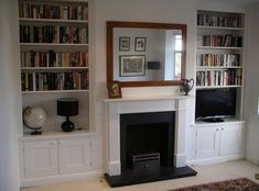 Such is the demand I've had recently for alcove cabinets that I've launched a seperate website devoted to them. Find out all about them HERE Tel: 07720 285376 email:. Living Room Shelves, Living Room Storage, New Living Room, Home And Living, Alcove Ideas Living Room, Bedroom Ideas, Alcove Cupboards, Built In Cupboards, Alcove Shelving