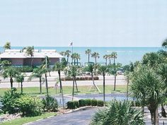 Bonita Springs condo rental - Gulf view from the terrace (zoomed)