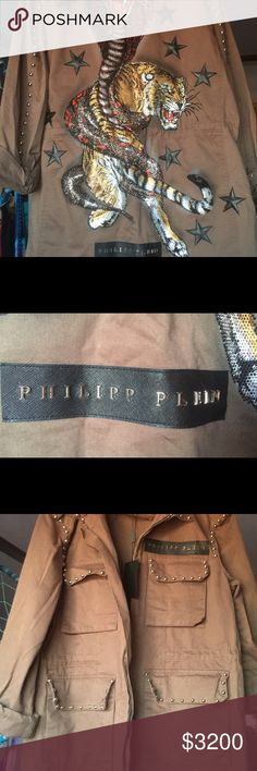 Phillip Plien men's jacket 2018 spring run way This jacket has only been wore on the run away in Milano Italy for Men's fashion week. Philipp Plein Jackets & Coats Utility Jackets