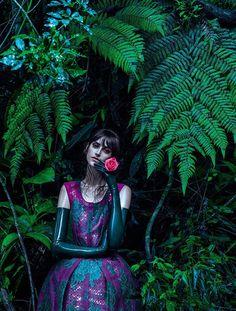 Daiane Conterato in 'Jardim de Inverno' by Zee Nunes for Vogue Brazil, April 2013.