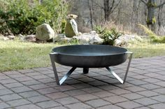Steel Fire Pit ETNA  Contemporary Design by ArpeStudio on Etsy