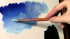 Acrylic Painting Techniques: Clouds: Learn to Paint Acrylic Painting Techniques, Painting Videos, Acrylic Painting Canvas, Acrylic Art, Painting & Drawing, Gouache Painting, Painting Abstract, Chalk Painting, Abstract Portrait