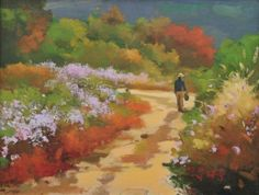 Landscape with flowers / Oil on Canvas, 2007 / 53.0 x 40.9 cm (20.9 x 16.1 inch)