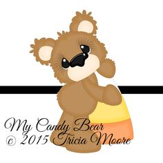 {FREE Weekly Cut File Freebie}  My Candy Bear Cut File available for FREE from Oct 5- Oct 11.