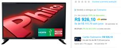 "TV LED 28"" Philco PH28D27D HD com Conversor Digital USB 2 HDMI 60Hz << R$ 79182 >>"