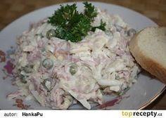 Celerový salát na chlebíčky Slovak Recipes, Czech Recipes, Ethnic Recipes, Good Food, Yummy Food, Potato Salad, Food And Drink, Health Fitness, Appetizers