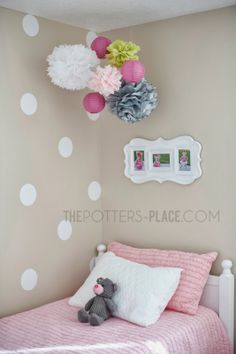 Vinyl Wall Decals - polka dots would be cute in the girls' room Big Girl Bedrooms, Little Girl Rooms, Little Girls, Polka Dot Walls, Polka Dot Wall Decals, Polka Dots, Baby Bedroom, Girls Bedroom, Bedroom Ideas
