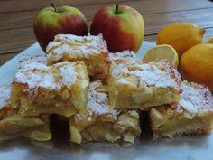 Maak in plaats van appeltaart eens plaatcake. Evenveel werk, en toch iets anders op tafel. Deze appel citroen plaatcake is o.a. gemaakt met karnemelk