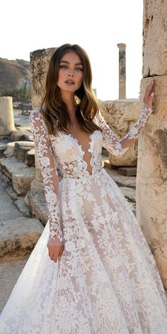 Best Wedding Dresses For Celebration ★ best wedding dresses a line with long sleeves lace pnina tornai wedding dresses pnina 25 Best Wedding Dresses Collections for Pnina Wedding Dresses, Tulle Wedding, Dream Wedding Dresses, Wedding Bride, Long Sleeved Wedding Dresses, Wedding Ideas, Luxury Wedding Dress, Lace Weddings, Gown Wedding