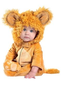 This Anne Geddes Infant Lion Costume is a sweet, cuddly animal costume idea for your baby!