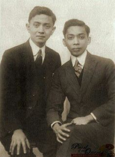 Fernando Amorsolo [L] with Guillermo Tolentino [R]  National Artists of the Philippines