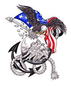 This is what my Marine corps tattoo looks like..